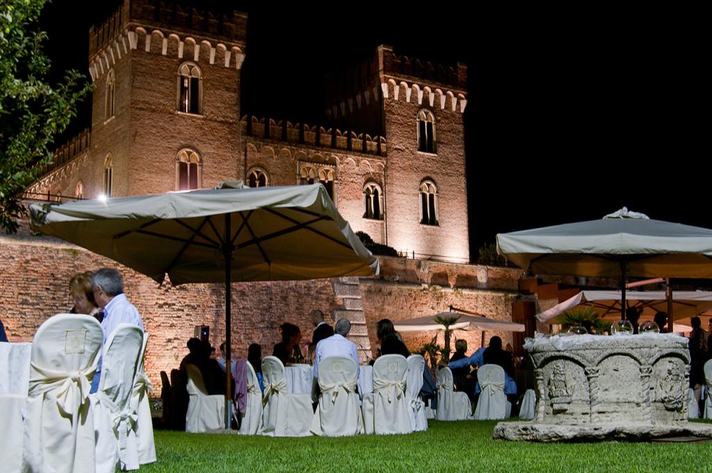 reception at Bevilacqua Castle