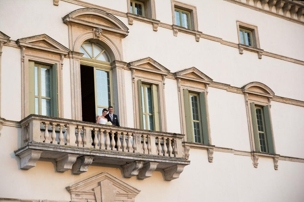 Il davanzale romantico di Villa Vecelli Cavriani