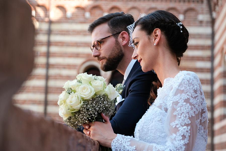 passeggiata sposi a verona piazza dei signori